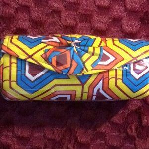 Handbags - New, medium yellow Authentic African print clutch